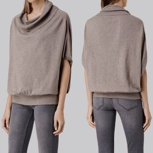 All Saints Elis Cowl Sweater Top XS